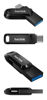 USB C & USB disk SanDisk 512GB Ultra Dual GO, 3.1/3.0, b do 150 MB/s, črn