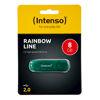 USB disk Intenso 8GB Rainbow zelen, USB 2.0, s pokrovčkom