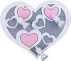 NOWODVORSKI stenska svetilka HEART III B  roza (NW-9064)