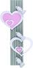 NOWODVORSKI stenska svetilka HEART III A  roza (NW-9063)